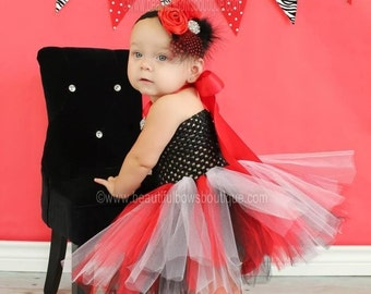 Red And Black Tutu DressInfant Dress WhiteBaby