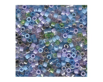 Miyuki Delica Beads 11/0 Japanese Seed Beads DBMIX08 (7.2g), Serenity Mixture Delica Seed Beads, Glass Bead, Cylinder Beads