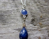 Sapphire Necklace, Sapphire and Sterling Silver Necklace, Gemstone Necklace, Layering Necklace