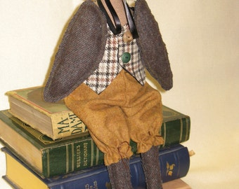 Mailed Cloth Doll Pattern 16 in Wise Old Professor Owl