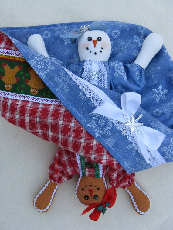 Mailed Cloth Doll Pattern Christmas Topsy Turvy Doll