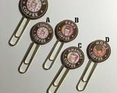 Personalized Dunkin Donuts Logo Bookmark Clip/Tab