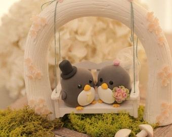penguin wedding cake topper (K430)