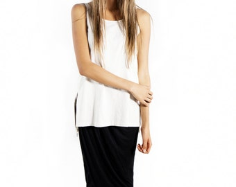 Organic Cotton Top, Long Two Slit Top,  organic shirts, organic clothing, organic tops, natural top