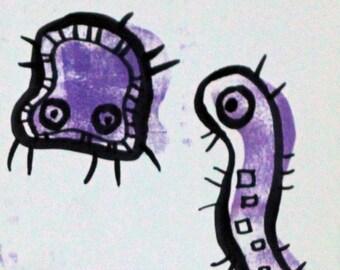 Purple Amoebas