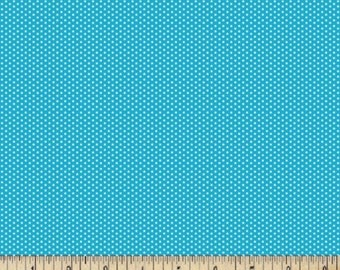 Turquoise Blue Swiss Dot Cotton Fabrics - Pin Dots Fabric By The Yard - Quilting
