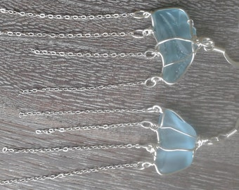 Dangling Jellyfish Sea glass Earrings Sterling Silver Marine life Jellyfish earrings Beach glass earrings