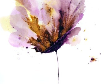 Flower Painting 18 x 24 Original Wall Art Floral Purple