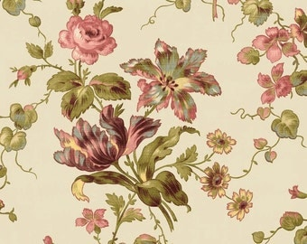 Penny Rose Riley Blake cotton fabric - Isabella Main PR4690 Cream by the yard
