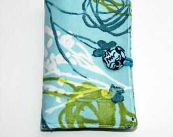 Tea Bag Wallet, Tea Bag Organizer, Teabag Holder, Tea Pouch, Wallet for Tea Bags Water Color Sky