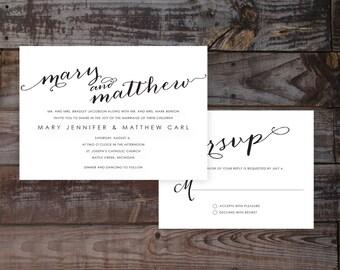 Modern Wedding Invitations, Unique Wedding Invitations, Wedding Invitation Templates, Custom Wedding Invitations, Calligraphy Invitations