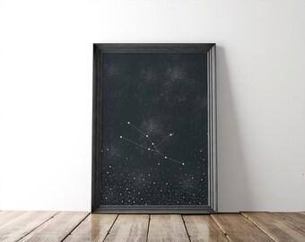 Taurus Constellation Fine Art Print // zodiac sign // 8x10 print // zodiac print // wall art // wall decor // astronomy // home decor