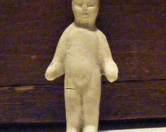 Antique Bisque German Frozen Charlotte Doll Figurine