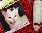 Pet Lover Gift, Crazy Cat Lady,  Gifts Under 20 Dollars, Funny Cat Book, Wool Cat Toy, Eco Friendly Organic Cat Toy