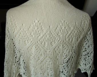 stunning off white beaded shawl.