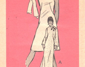 1970s Mail Order 4761 Misses Oriental Dress Tunic and Pants Pattern Womens Vintage Sewing Pattern Size 8 Bust 31 UNCUT