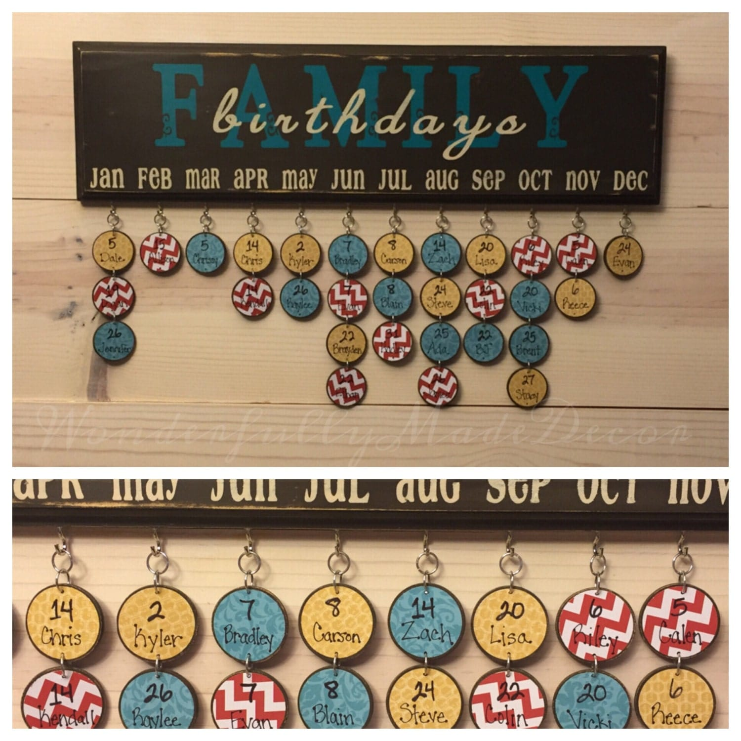 Family Birthday Board . Family Birthday Sign . Special Dates