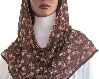 Koul SHôl™ Head Hoodie Floral Bouquet Cowl Hoodie Mesh Knit Hoodie Handmade