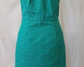 Turquoise Circles Pencil Dress