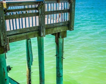 Panama City Beach Fishing on Pier Fine Art Print
