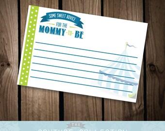 ADVICE CARDS - Little Peanut Baby Shower - Boy Baby Shower - Printable DIY Digital File