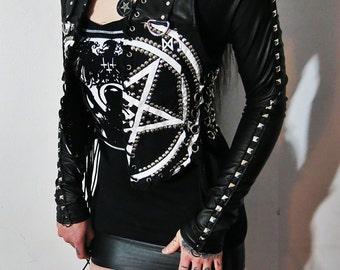 Satanic Warmaster Studded Mini Dress