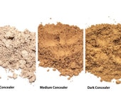 Stay All Day Sweatproof Concealer in Loose Powder - Light, Medium, and Dark, Natural Vegan Mineral Makeup