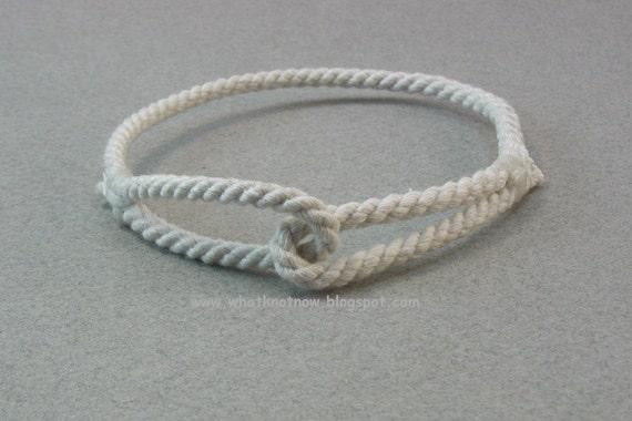 double eye loop rope bracelet handmade rope soft bangle rope