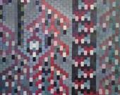 ORIGINAL Acrylic Painting on Canvas -- Pixel Painting V, Purple Lantern
