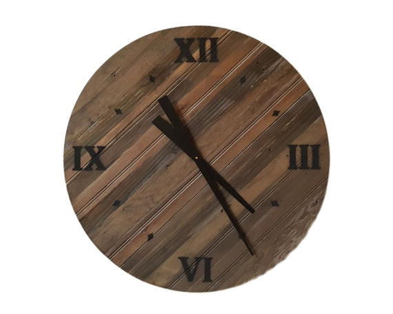 24 Inch Reclaimed Wood Wall Clock