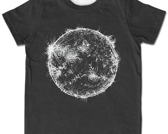 Kids Sun Shirt, Space Shirt, Solar System tshirt, Astronomy tee, sunshine shirt, monochrome kids science shirt children toddler youth tshirt