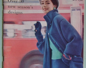 Vogue Knitting Book No. 45 Vintage Knitting Patterns 1950s womens jackets sweaters jumpers 50s original patterns