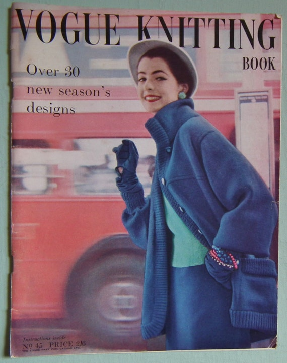 Vintage Vogue Knitting Pattern Books : Vogue Knitting Book No. 45 Vintage Knitting by sewmuchfrippery