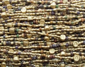 LIMITED Matte Opaque Aged Striped Picasso Czech Glass Bead Mix - 20 Inch Strand (AW296)