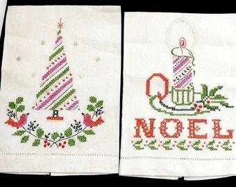 Vintage Linen Hand Embroidered Tea/Fingertip/Guest Towel