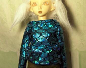 Mermaid sweatshirt for MSD, minifee, 1/4 bjd DOLL(Limited)