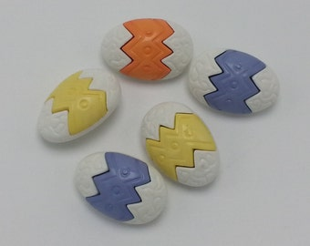 Easter Egg Snap Together Buttons Easter Embellishments Realistic Collectible Buttons