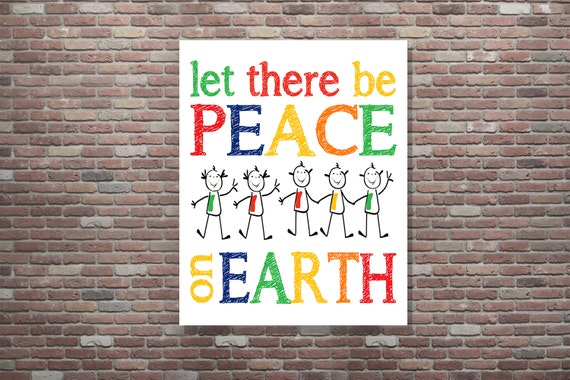 Classroom Art, Classroom Wall Art, School Wall Display. Elementary School Art, Let There Be Peace, Classroom Wall Decor, INSTANT DOWNLOAD,
