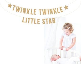 TWINKLE TWINKLE Little Star Banner. Photo Prop. Nursery Decor. Baby Shower. Photo Booth, Photobooth, Photo Prop