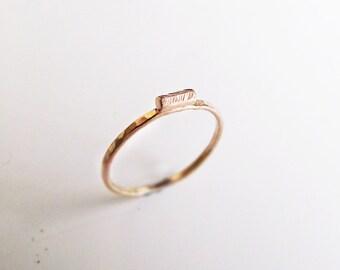 Driftwood Ring. 14K Gold