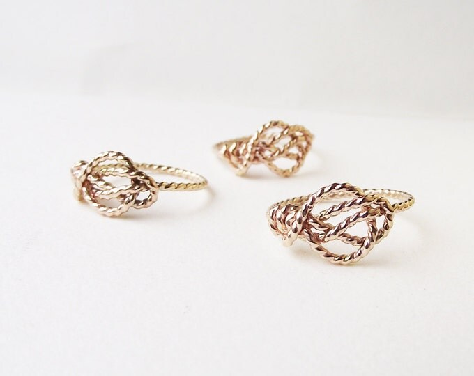 Love Knot Ring. Nautical Knot Ring. Promise Ring. Nontraditional Engagement Ring. Infinity Knot Ring