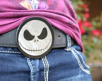 NIGHTMARE, Custom etched Steel Belt Buckle