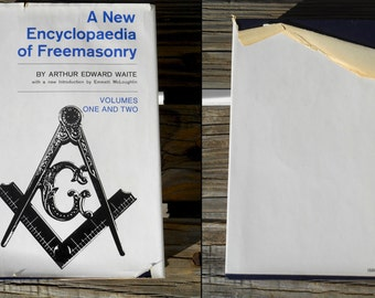 1970 A New Encyclopaedia Of Freemasonry mysteries rites literature history Arthur Edward Waite Weathervane illustrated secret society book