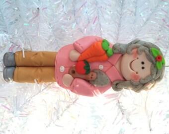 Gardener Christmas Ornament - Gift for Gardener - Gardening Ornament - Clay Christmas Ornament - Personalized Christmas Ornament - 41717