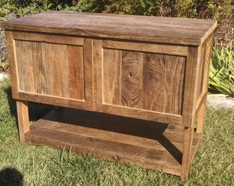 YOUR Custom Made Rustic Barn Wood Vanity or Cabinet with a Shelf FREE SHIPPING - BWV425CD