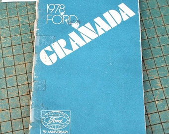 1978 Ford Granada Owners Manual, vintage original, 75th Anniversary, man cave garage, gas station