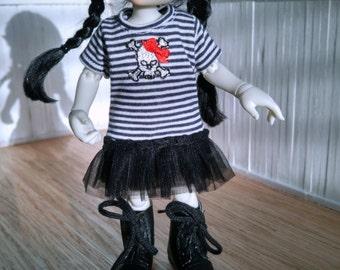 Skully T-Shirt Dress for Fairyland Realfee bjd abjd ~SALE~