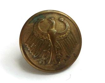 German Eagle Antique Brass Uniform Button