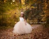 NEW! The Grace Dress in Ivory Champagne - Flower Girl Tutu Dress