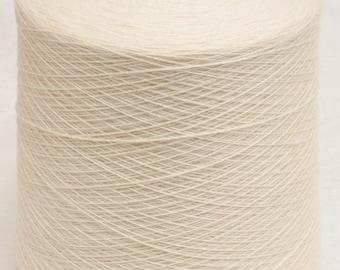 5 - 1-Kg Cones Merino Superwash Medium Light Sock Yarn - Natural White